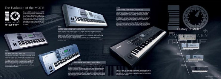 photo:Groundbreaking models released during the 10 years after the release of the first MOTIF were introduced.