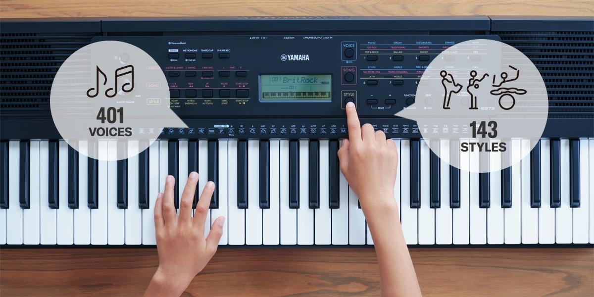 PSR-E273 - Descripción - Teclados portátiles - Teclados portátiles -  Instrumentos musicales - Productos - Yamaha - España